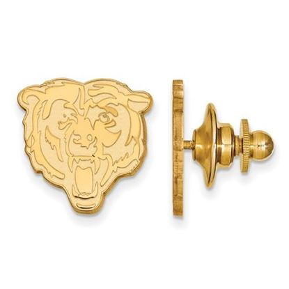 Picture of Chicago Bears Sterling Silver Gold Plated Lapel Pin