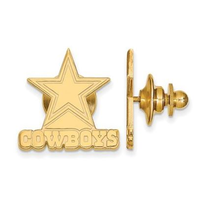 Picture of Dallas Cowboys Sterling Silver Gold Plated Lapel Pin