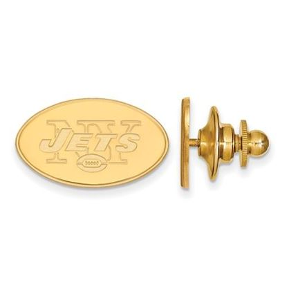 Picture of New York Jets Sterling Silver Gold Plated Lapel Pin
