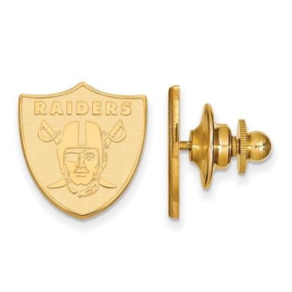 Picture of Oakland Raiders Sterling Silver Gold Plated Lapel Pin