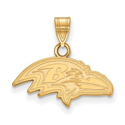 Picture of Baltimore Ravens Sterling Silver Gold Plated Small Pendant