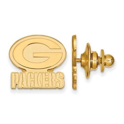 Picture of Green Bay Packers Sterling Silver Gold Plated Lapel Pin