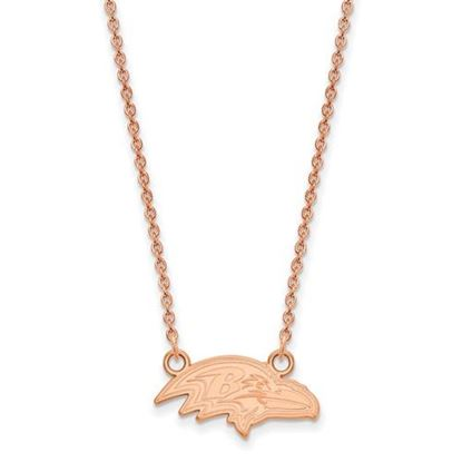 Picture of Baltimore Ravens Sterling Silver Rose Gold-plated Pendant Necklace