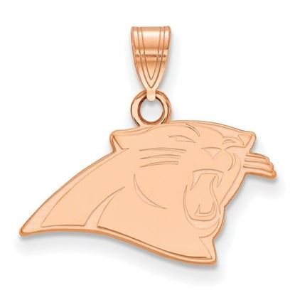 Picture of Carolina Panthers Sterling Silver Rose Gold-plated Small Pendant