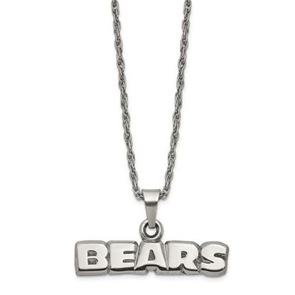 Picture of Chicago Bears Stainless Steel Pendant on Chain