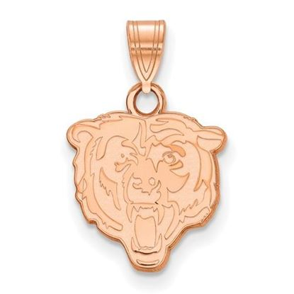 Picture of Chicago Bears Sterling Silver Rose Gold-plated Small Pendant