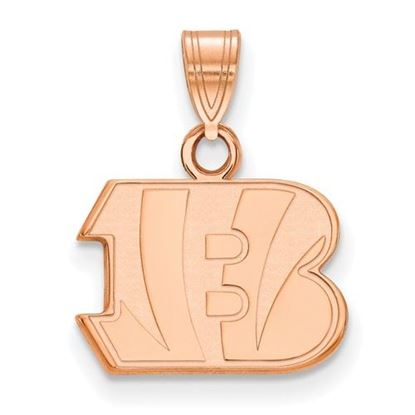 Picture of Cincinnati Bengals Sterling Silver Rose Gold-plated Small Pendant