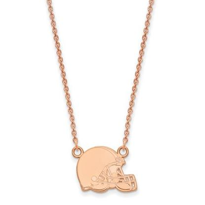 Picture of Cleveland Browns Sterling Silver Rose Gold-plated Pendant Necklace