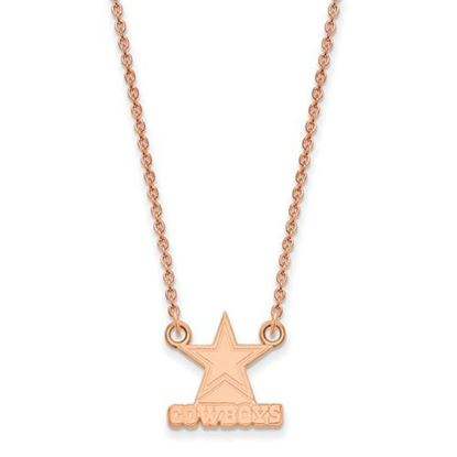 Picture of Dallas Cowboys Sterling Silver Rose Gold-plated Pendant Necklace