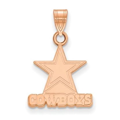 Picture of Dallas Cowboys Sterling Silver Rose Gold-plated Small Pendant