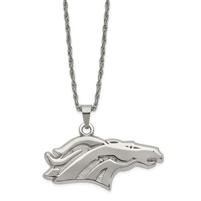 Picture of Denver Broncos Stainless Steel Pendant on Chain