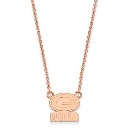 Picture of Green Bay Packers Sterling Silver Rose Gold-plated Pendant Necklace