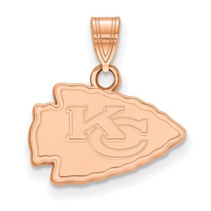 Picture of Kansas City Chiefs Sterling Silver Rose Gold-plated Small Pendant