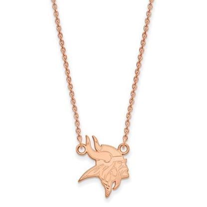 Picture of Minnesota Vikings Sterling Silver Rose Gold-plated Pendant Necklace