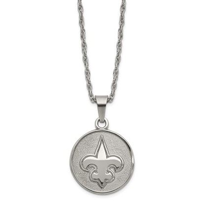 Picture of New Orleans Saints Stainless Steel Pendant on Chain