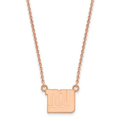 Picture of New York Giants Sterling Silver Rose Gold-plated Pendant Necklace