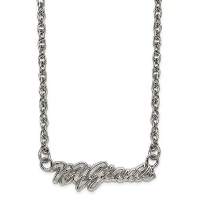 Picture of New York Giants Stainless Steel Script Necklace