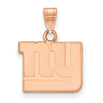 Picture of New York Giants Sterling Silver Rose Gold-plated Small Pendant
