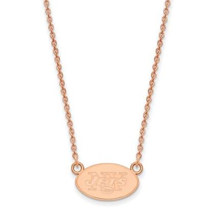 Picture of New York Jets Sterling Silver Rose Gold-plated Pendant Necklace