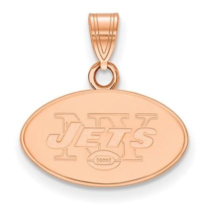 Picture of New York Jets Sterling Silver Rose Gold-plated Small Pendant
