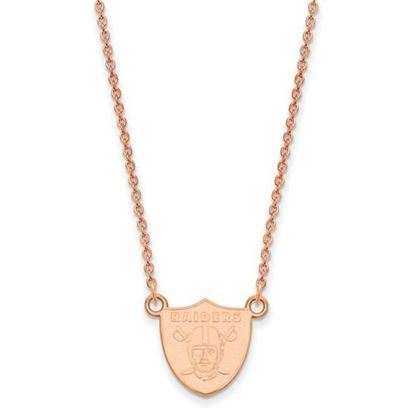 Picture of Oakland Raiders Sterling Silver Rose Gold-plated Pendant Necklace