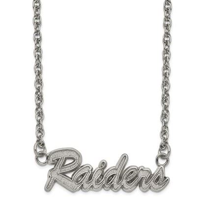 Picture of Oakland Raiders Stainless Steel Script Necklace