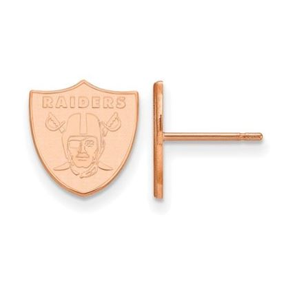 Picture of Oakland Raiders Sterling Silver Rose Gold-plated Small Post Earrings
