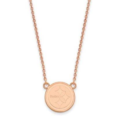 Picture of Pittsburgh Steelers Sterling Silver Rose Gold-plated Pendant Necklace