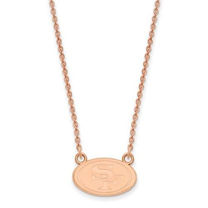 Picture of San Francisco 49ers Sterling Silver Rose Gold-plated Pendant Necklace