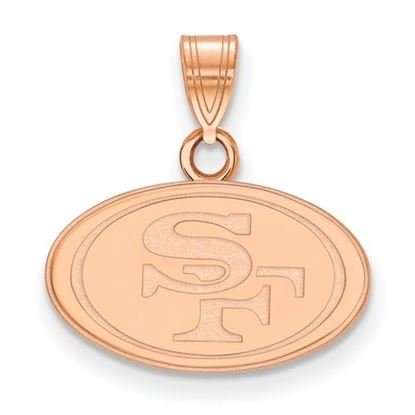 Picture of San Francisco 49ers Sterling Silver Rose Gold-plated Small Pendant