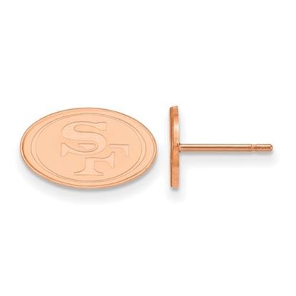 Picture of San Francisco 49ers Sterling Silver Rose Gold-plated Small Post Earrings
