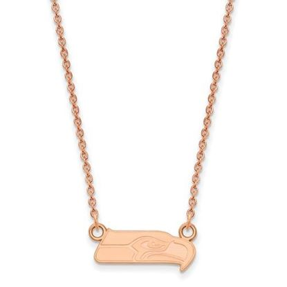 Picture of Seattle Seahawks Sterling Silver Rose Gold-plated Pendant Necklace