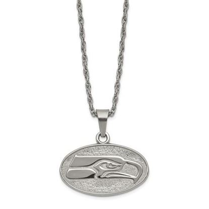 Picture of Seattle Seahawks Stainless Steel Pendant on Chain