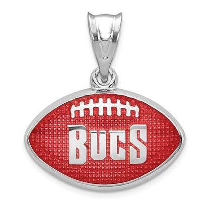 Picture of Tampa Bay Buccaneers Sterling Silver Rhodium-plated Football Pendant