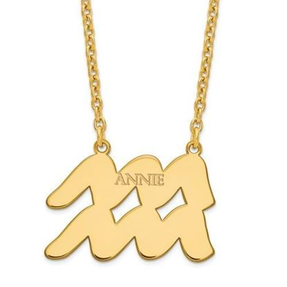 Personalized Gold Plated Sterling Silver Aquarius Zodiac Necklace