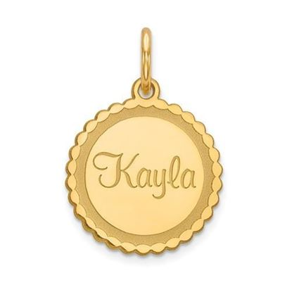 Personalized Name Plate Gold-plated Sterling Silver Pendant
