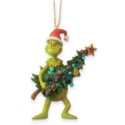 Grinch Holding Tree Ornament-JIM SHORE