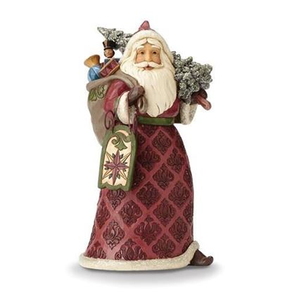 Victorian Santa with Toy Bag Figurine-Heartwood Creek