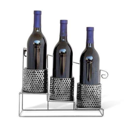 3 Bottle Stair Metal Wine Caddy