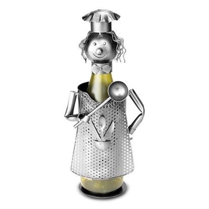 Cook With Ladle Metal Wine Caddy