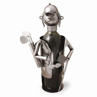 Golfer Metal Wine Caddy