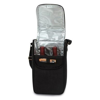 BYOB Double Bottle Insulated Wine Tote Bag