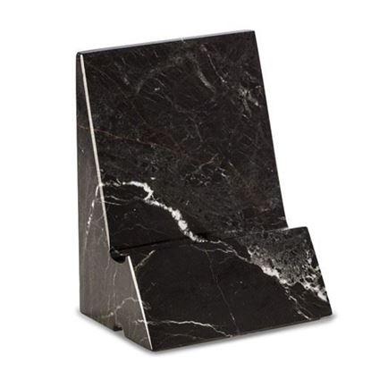 Phone Tablet Holder Black Marble