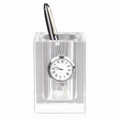 Badash Crystal Pencil Holder Clock