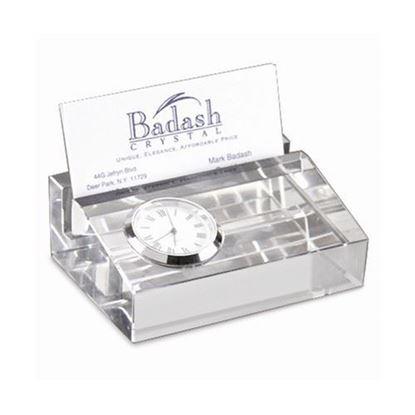 Badash Crystal Clock Card Holder
