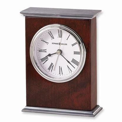 Kentwood Rosewood and Nickel Finish Quartz Alarm Clock