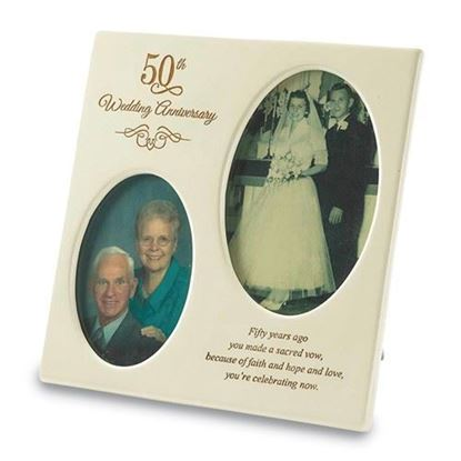 50th Anniversary Double Photo Frame
