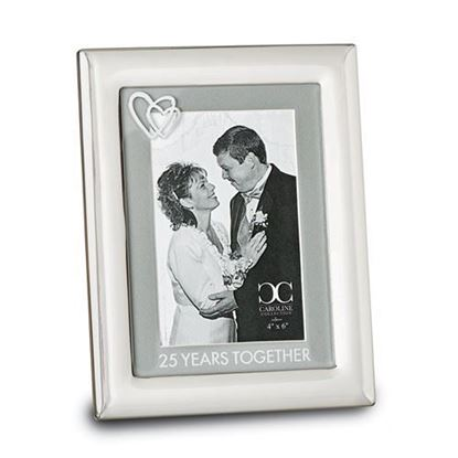 25 Years Together 4x6 Anniversary Picture Frame
