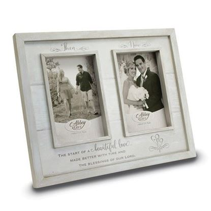 Then And Now Anniversary Wood Frame Boxed