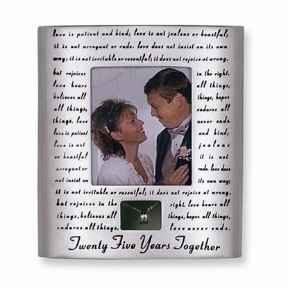 25th Anniversary 3x3.5 Photo Frame